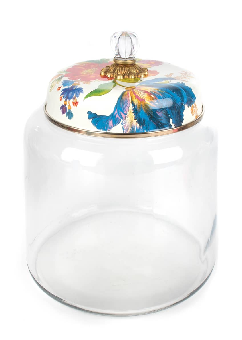MacKenzie-Childs Flower Market Big Storage Canister