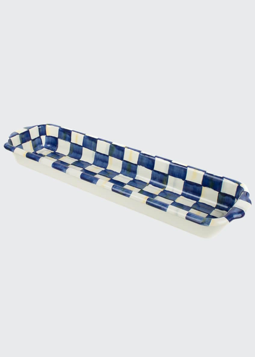 MacKenzie-Childs Royal Check Baguette Dish