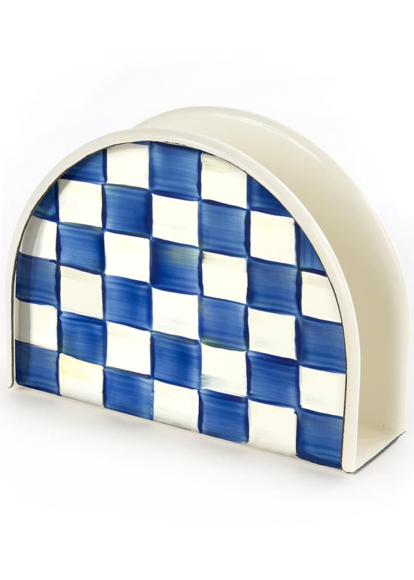 MacKenzie-Childs Royal Check Napkin Holder