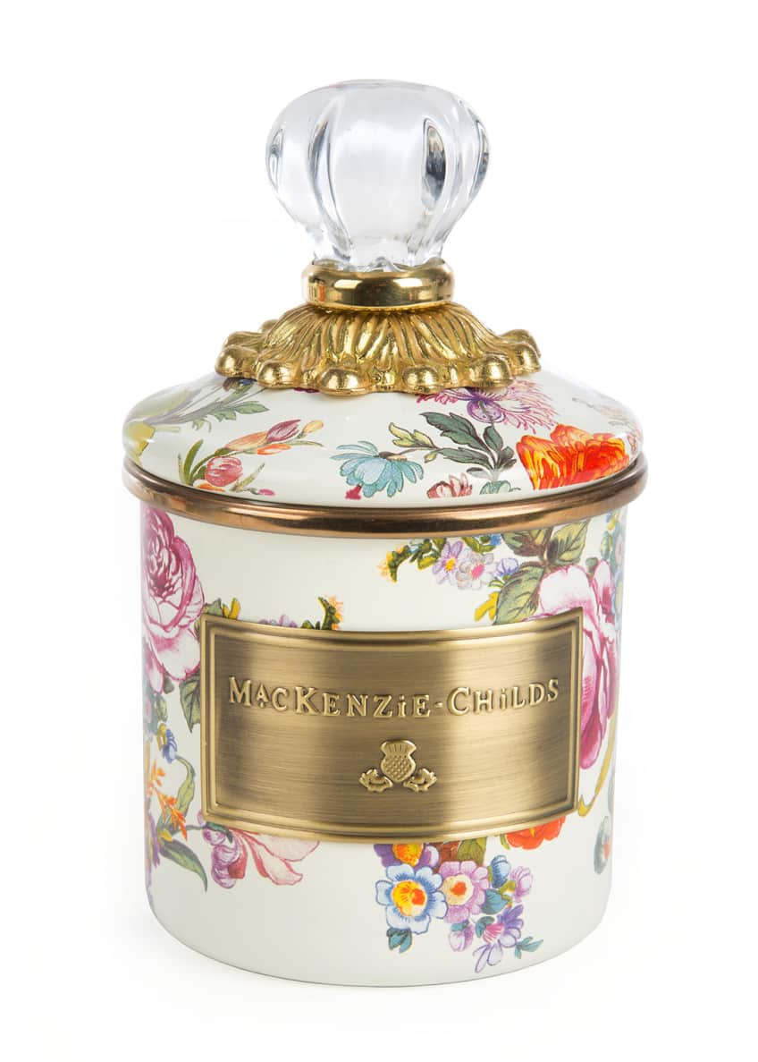 MacKenzie-Childs Flower Market White Mini Canister
