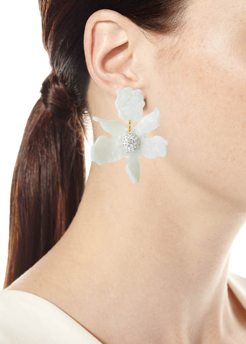 Image 2 of 2: Crystal Lily Earrings