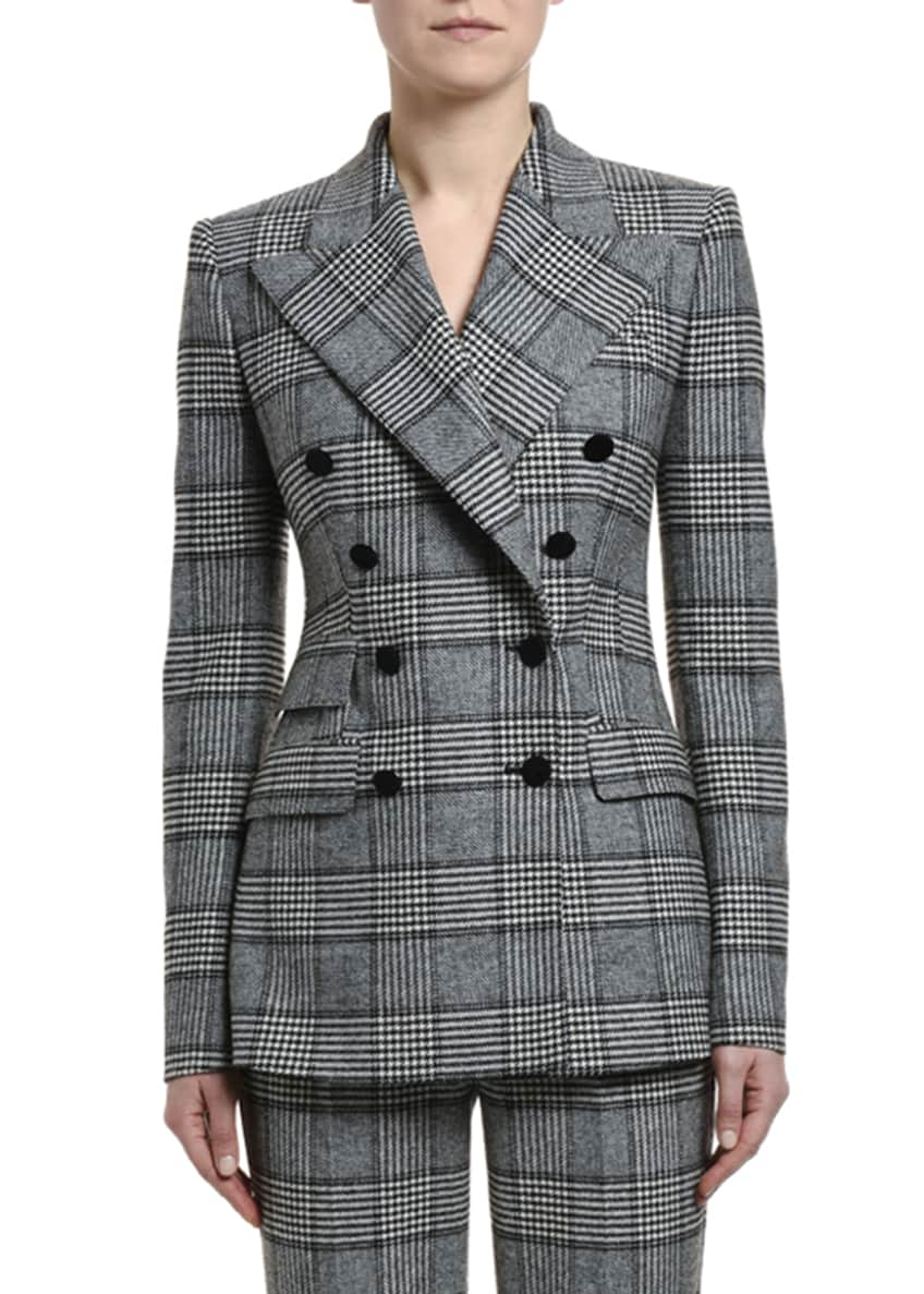 Dolce & Gabbana Prince of Wales Double-Breasted Jacket