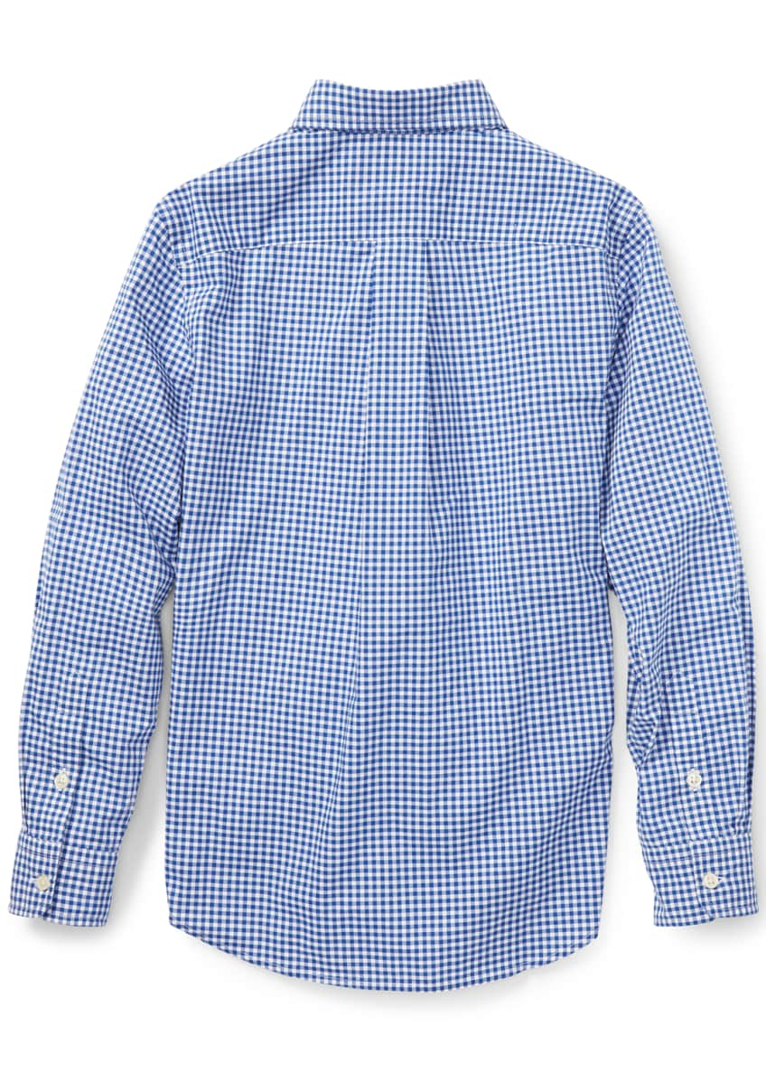 Image 2 of 4: Poplin Woven Gingham Sport Shirt, Size S-XL
