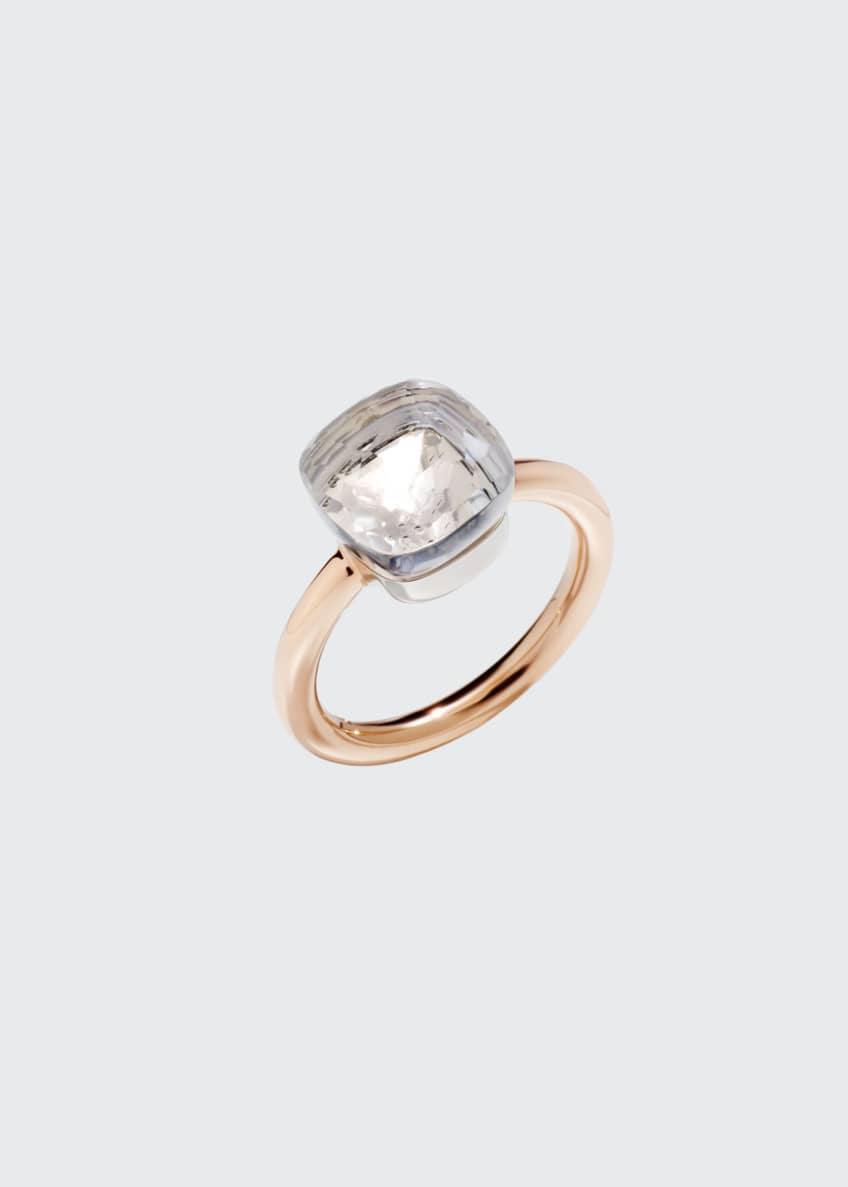 Image 1 of 1: Nudo Medium Rose Gold & Colorless Topaz Ring, Size 56