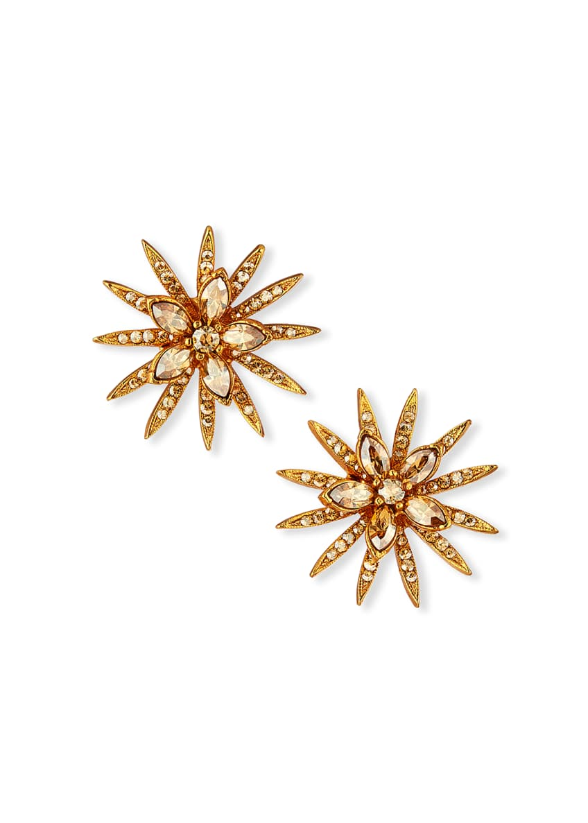 Oscar de la Renta Pave Point Stud Earrings