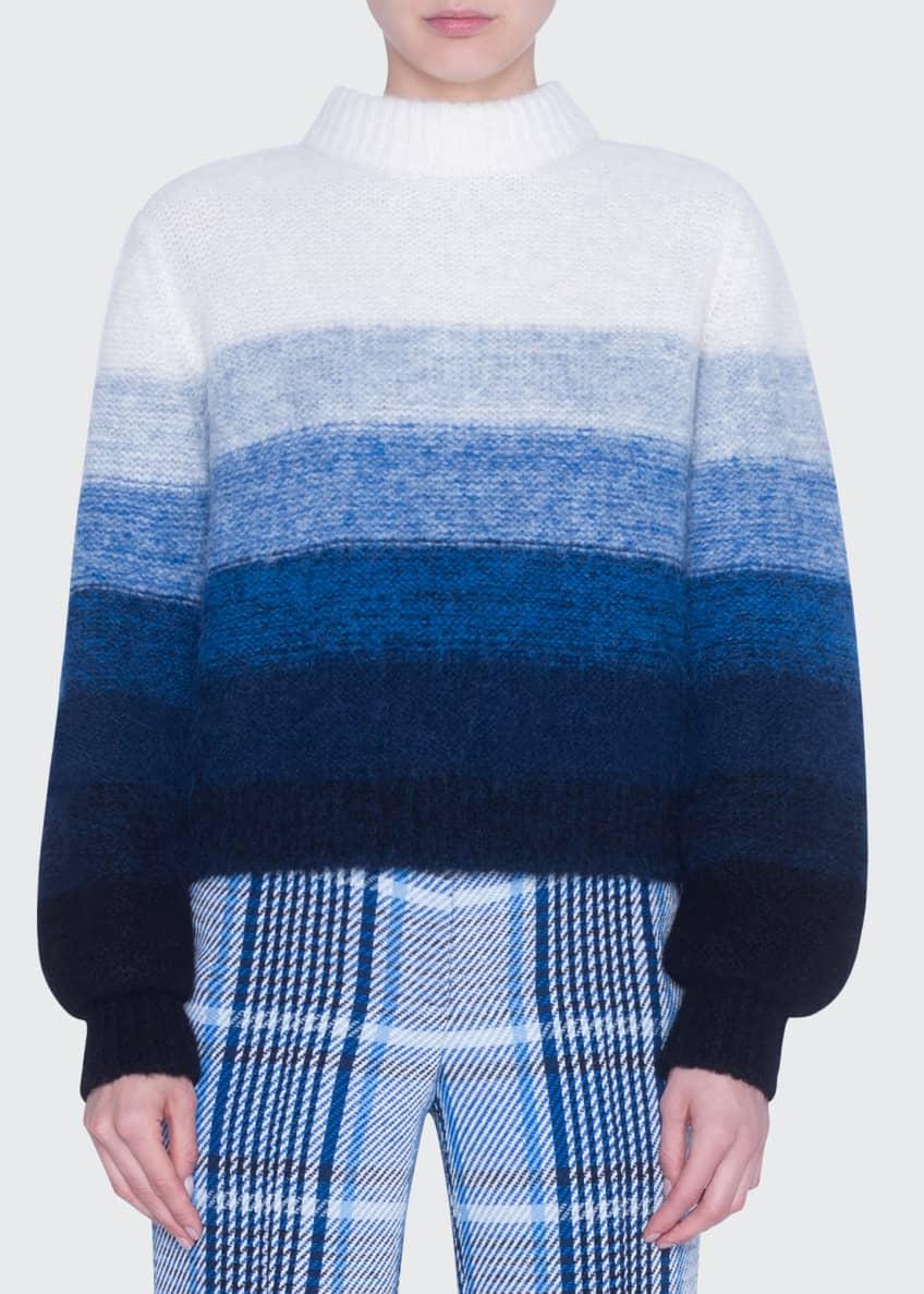 Akris punto Colorblock Alpaca-Blend Mock-Neck Sweater & Matching