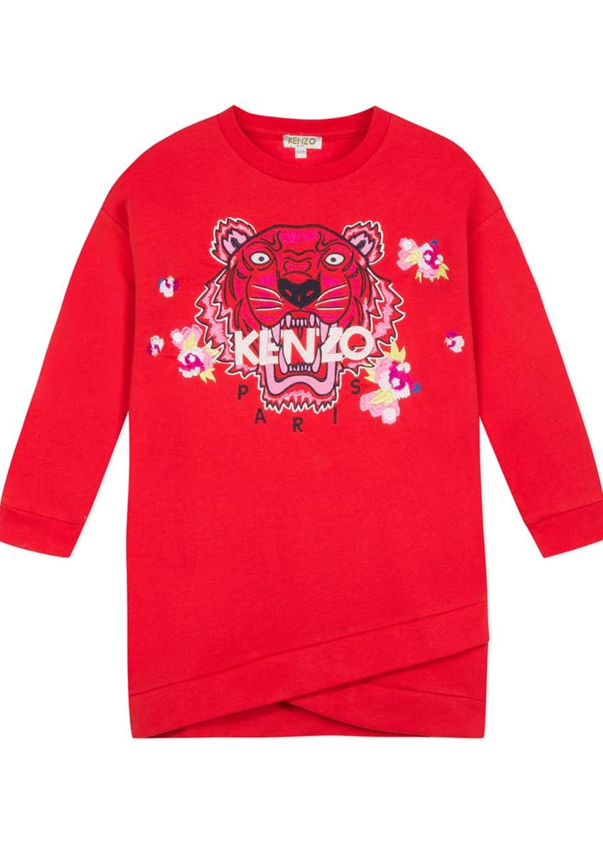 Kenzo Tiger & Flower Sweatshirt Dress, Size 2-6