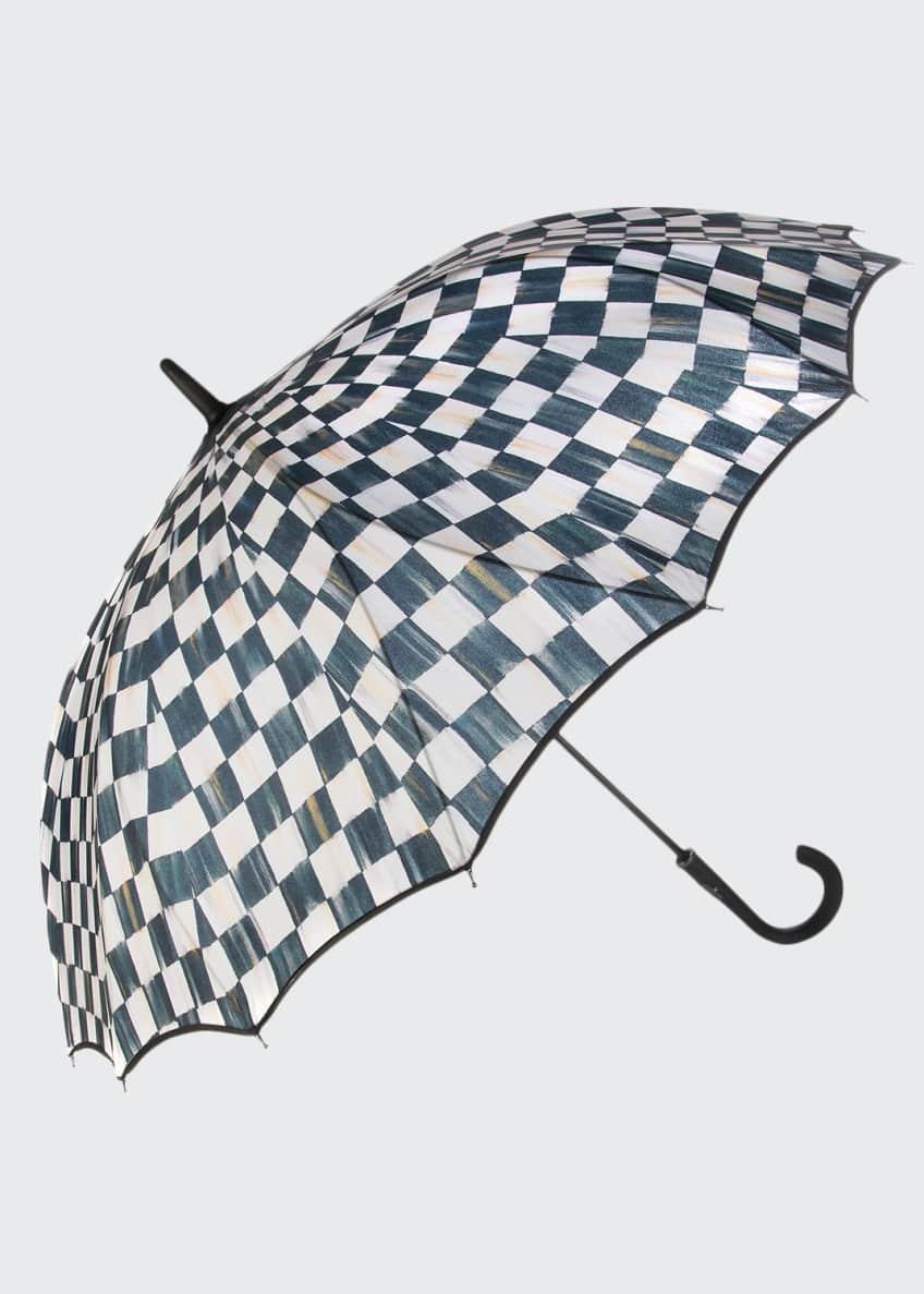 MacKenzie-Childs Courtly Check Seamless Umbrella
