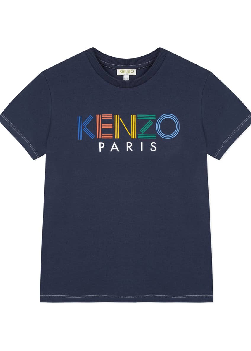 Kenzo Multicolor Logo Print Tee, Size 2-6 &