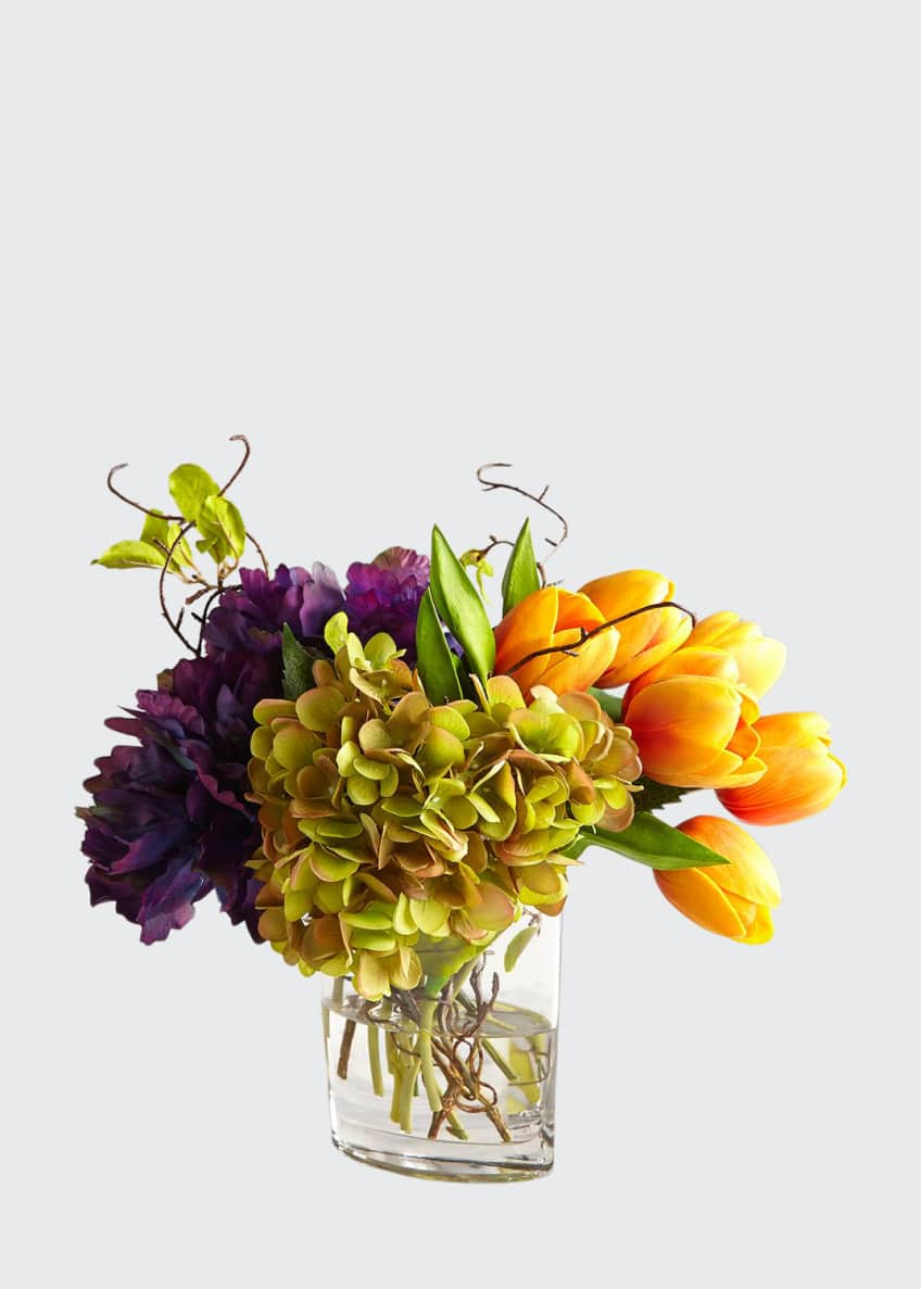 Image 1 of 1: Tangerine Tulips Floral Arrangement