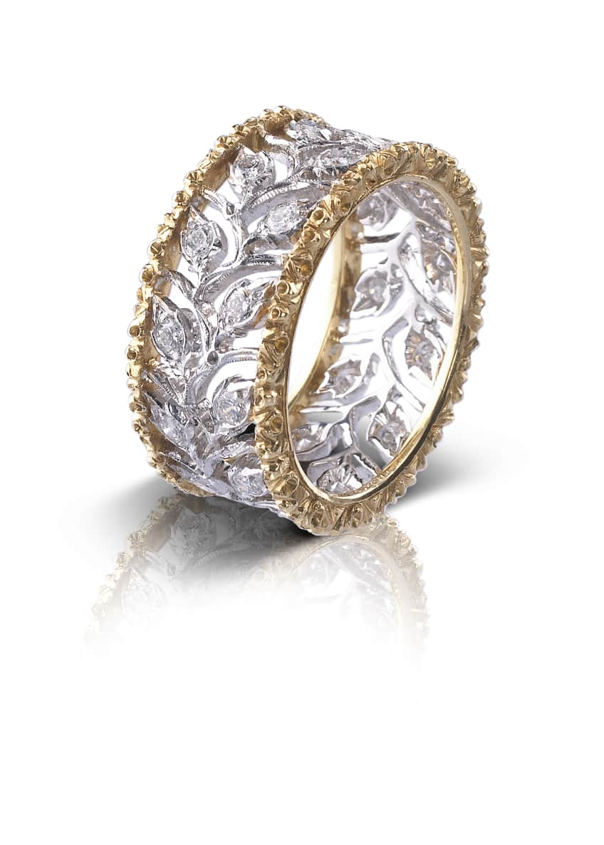 Ramage Eternelle Diamond Leaf Ring, Size 49