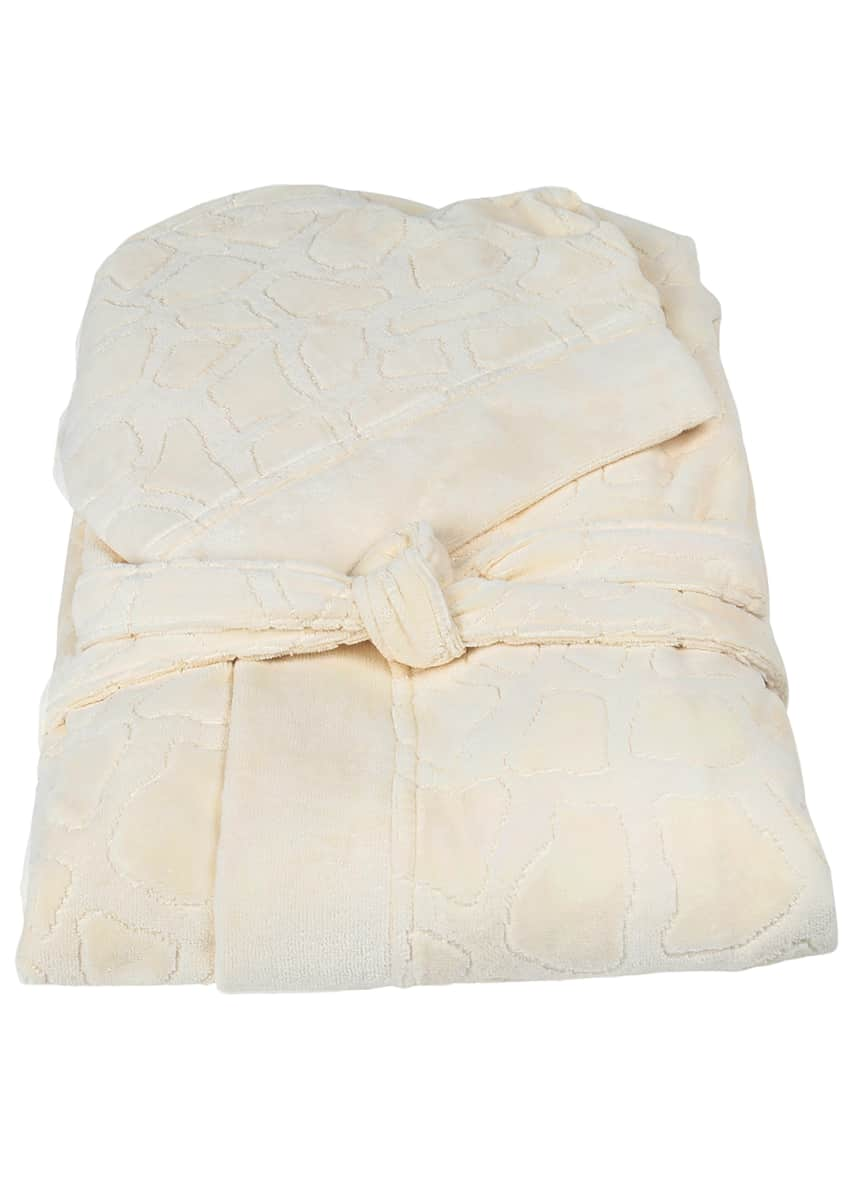 Image 1 of 1: Jerapah Italian Hooded Bathrobe - Size XXL, Ivory