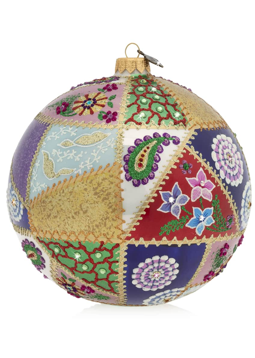 Jay Strongwater 2019 Opulent Glass Christmas Ornament
