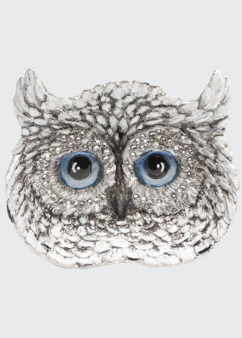 Jay Strongwater Snow Owl Trinket Tray