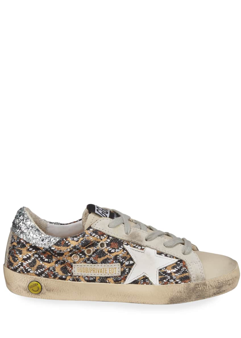 Image 2 of 3: Superstar Leopard Embellished Sneakers, Toddler/Kids
