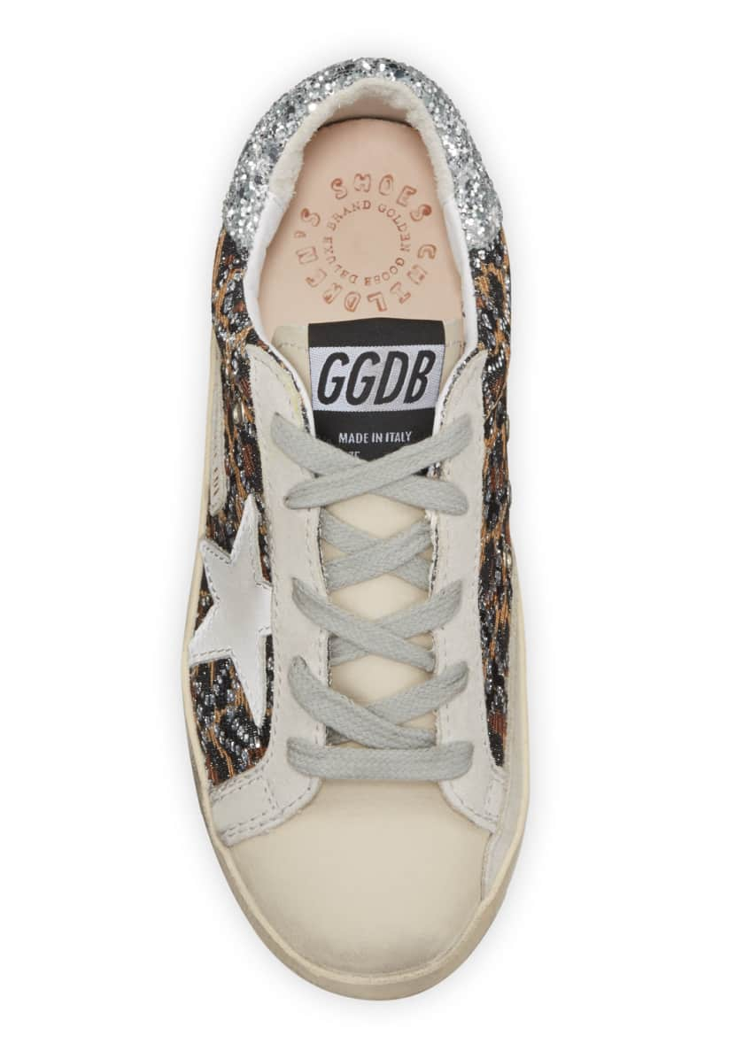 Image 3 of 3: Superstar Leopard Embellished Sneakers, Toddler/Kids