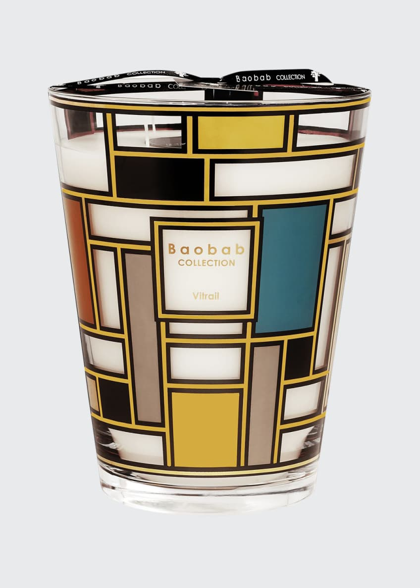 Image 1 of 1: Max 24 Vitrail Gold Candle