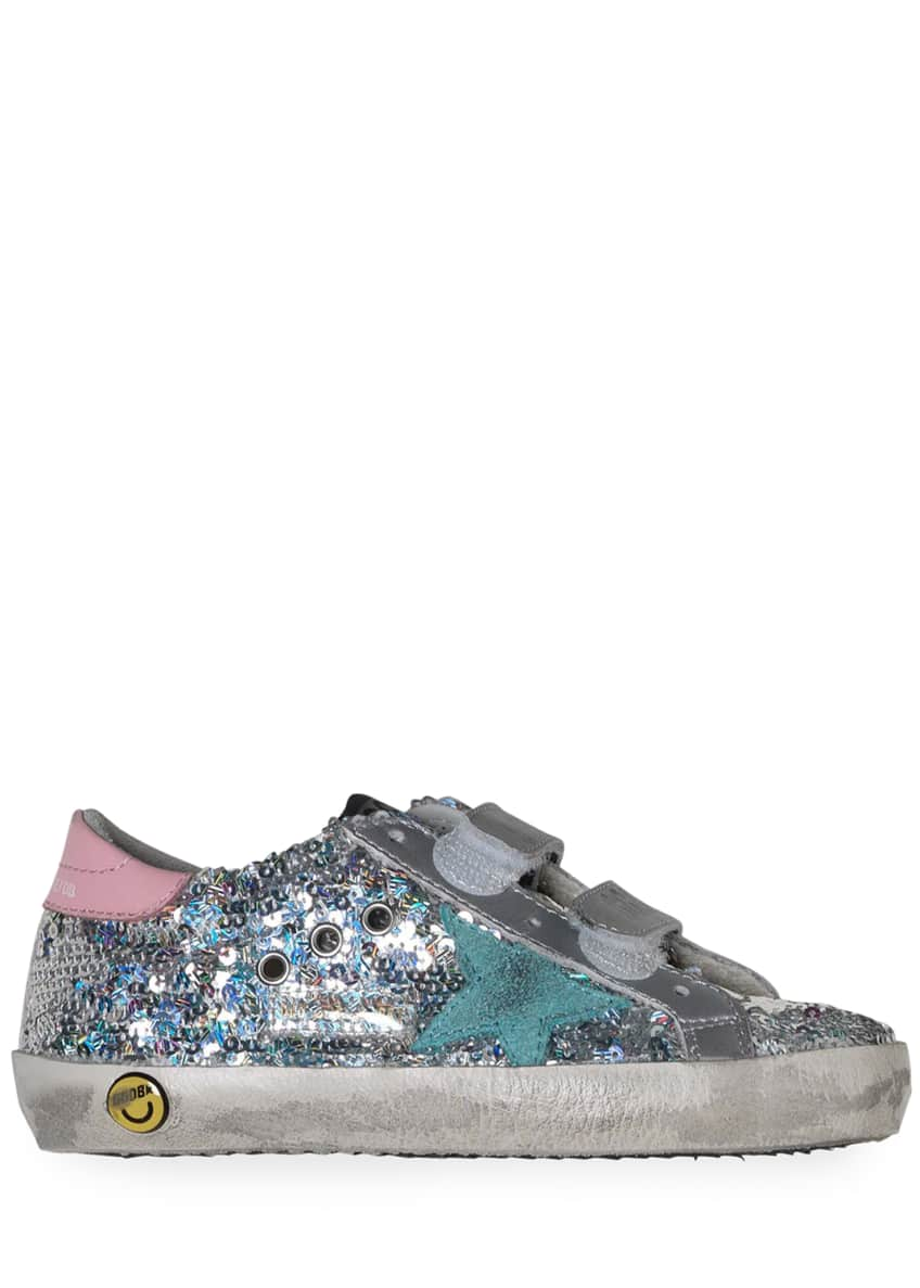 Golden Goose Girl's Old School Paillettes Sneakers, Baby/Toddler