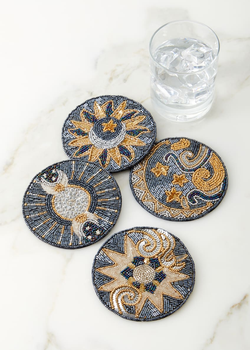 Kim Seybert Celestial Coasters, Set of 4