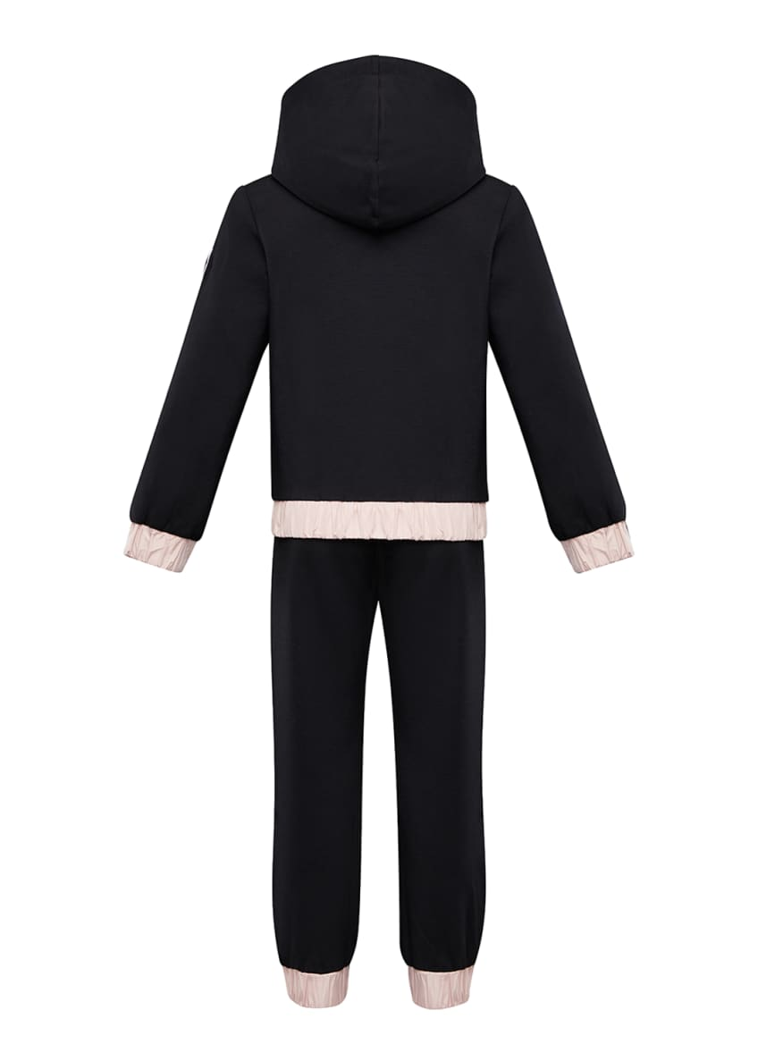 Image 2 of 4: Contrast-Trim Hoodie w/ Matching Sweatpants, Size 4-6