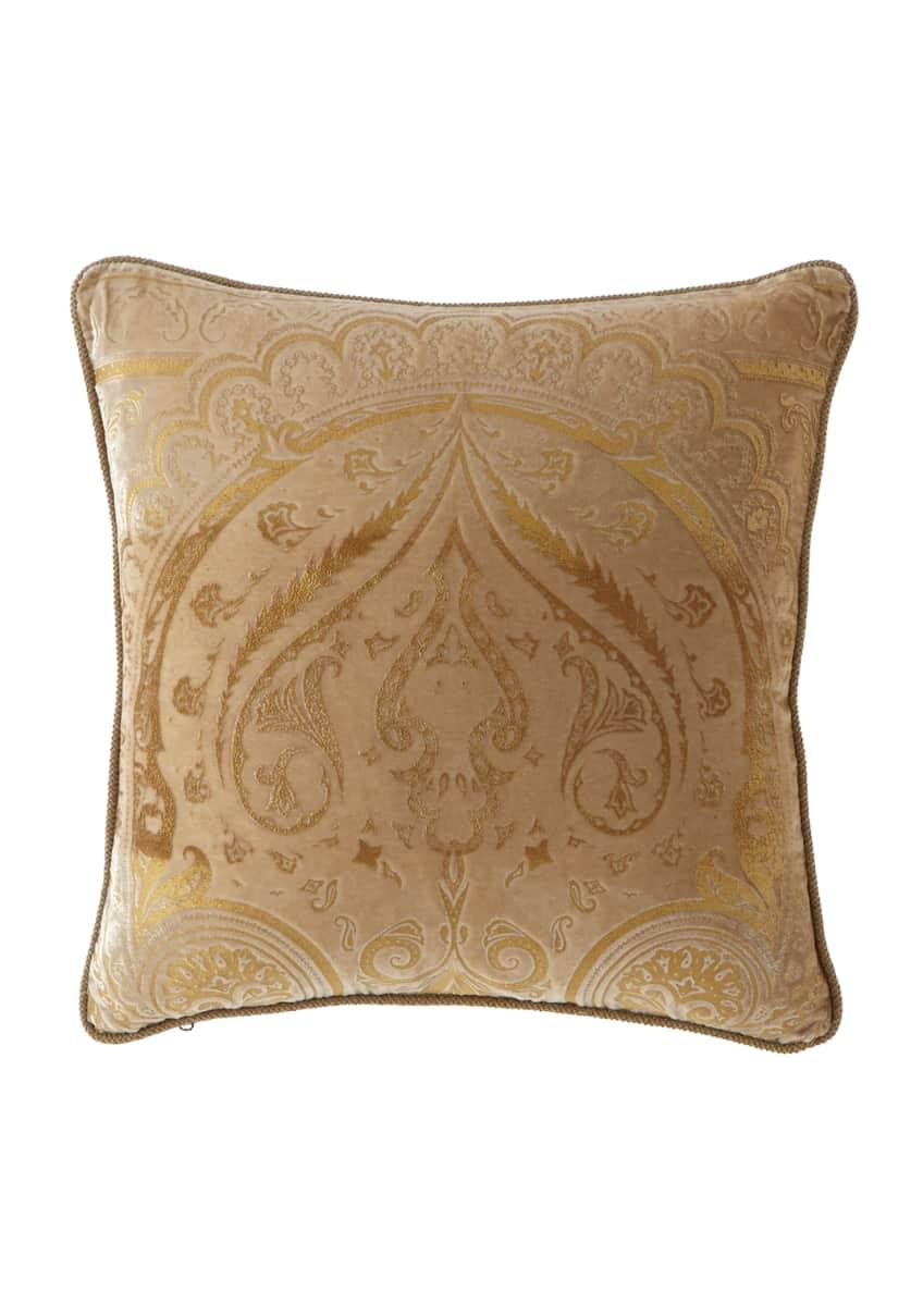 Etro Damask Velvet Pillow, 18