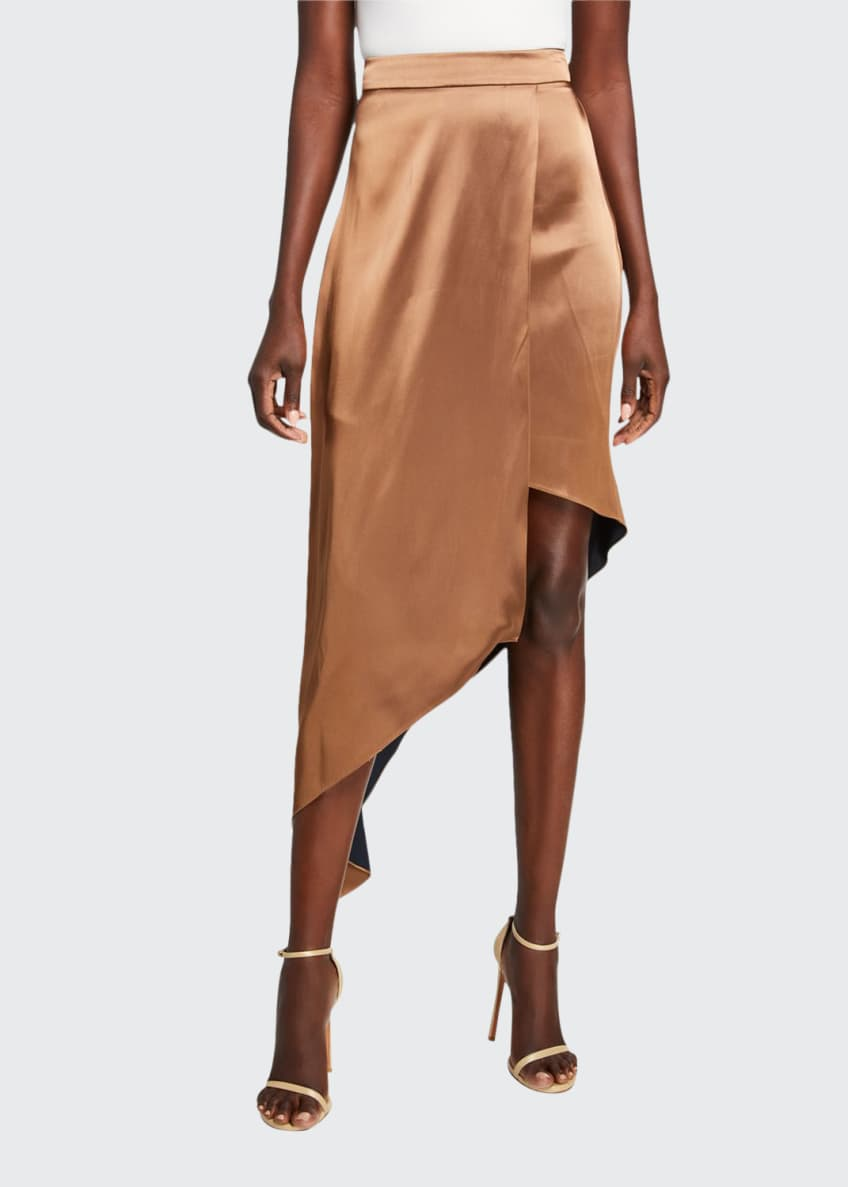CUSHNIE Double-Charmeuse One-Shoulder Bodysuit & Matching Items
