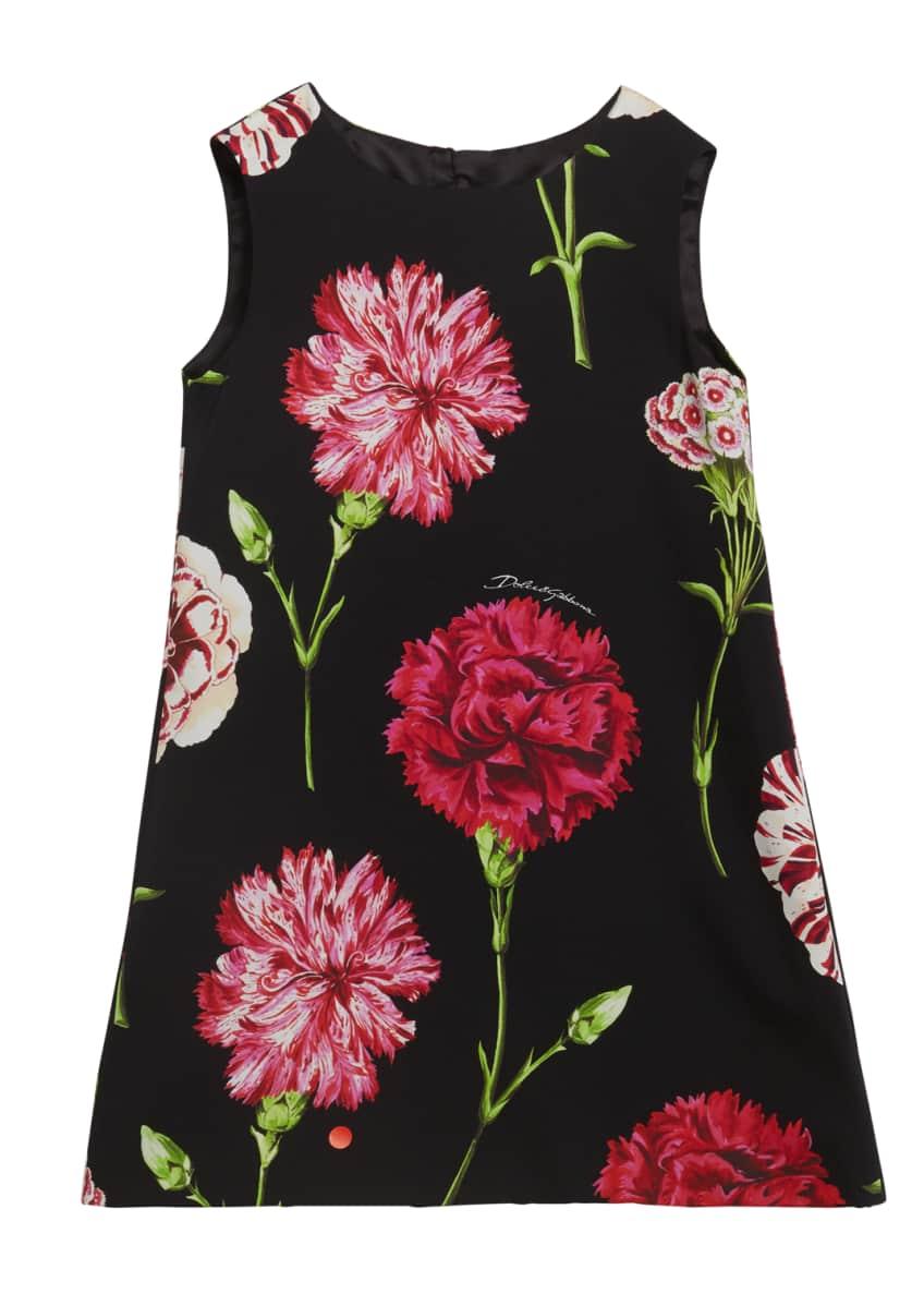 Dolce & Gabbana Girl's Sleeveless Floral Dress, Size