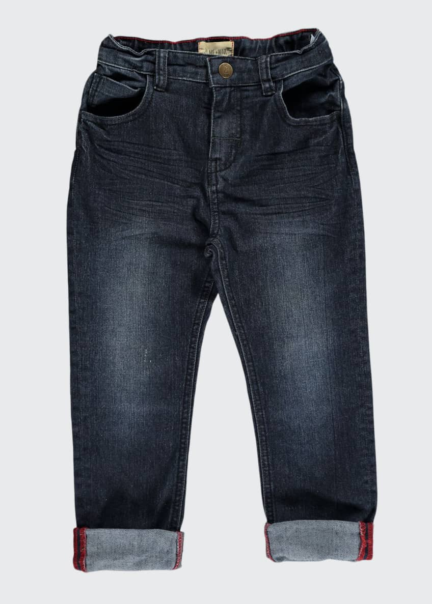 Image 1 of 2: Slim Fit Denim Jeans w/ Children's Book, Size 6-24 Months