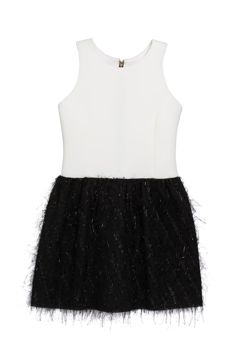 Zoe Girl's Fly Metallic Bubble Skirt Dress, Size
