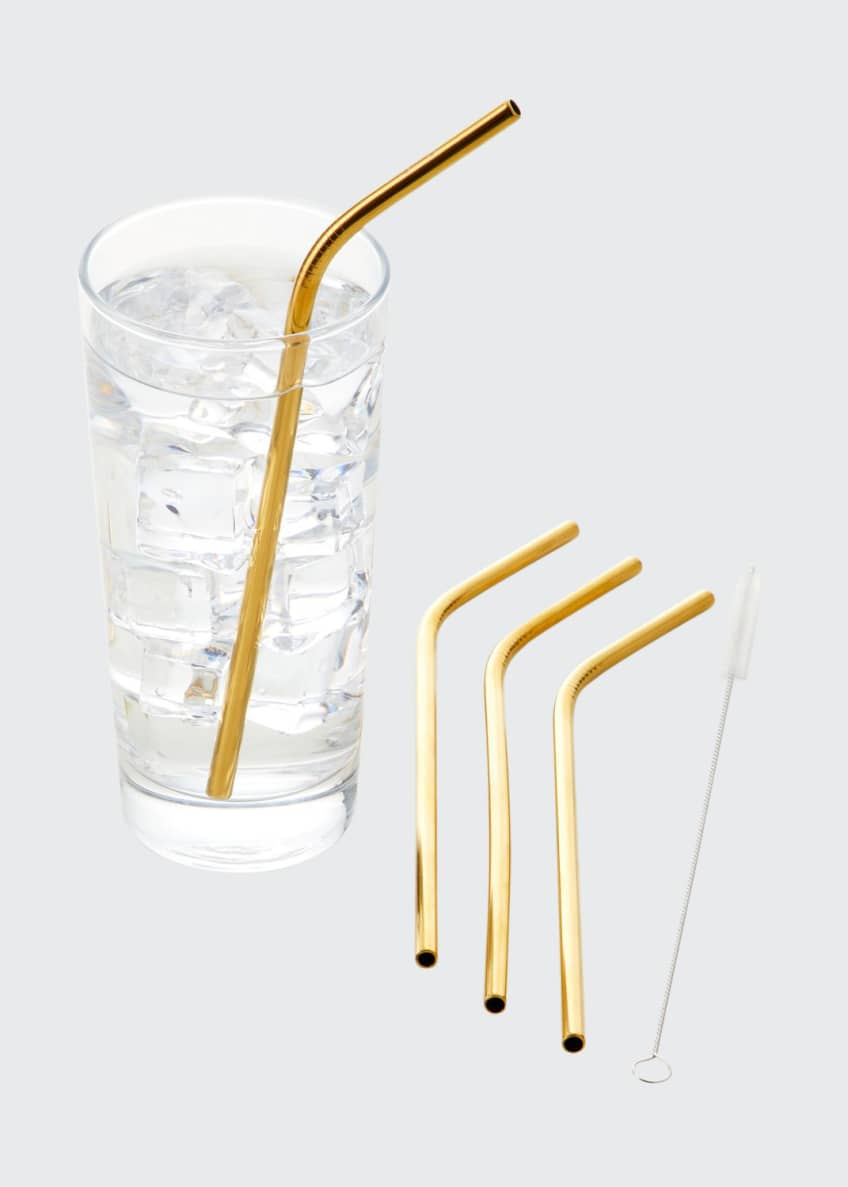 Image 1 of 1: Stainless Steel Straws with Cleaner
