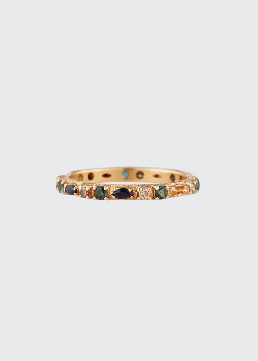 Armenta 18k Rose Gold Sapphire, Marquise & Diamond