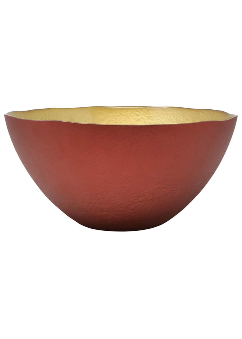 Image 1 of 1: Two-Tone Glass Large Deep Bowl
