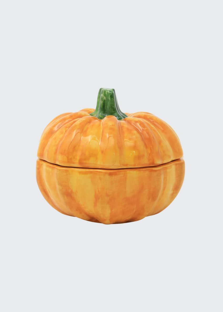 Image 1 of 3: Pumpkins Figural Pumpkin Covered Small Dish