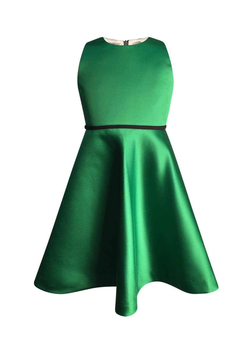 Image 1 of 2: Girl's Sleeveless Fit-and-Flare Dress, Size 2-6