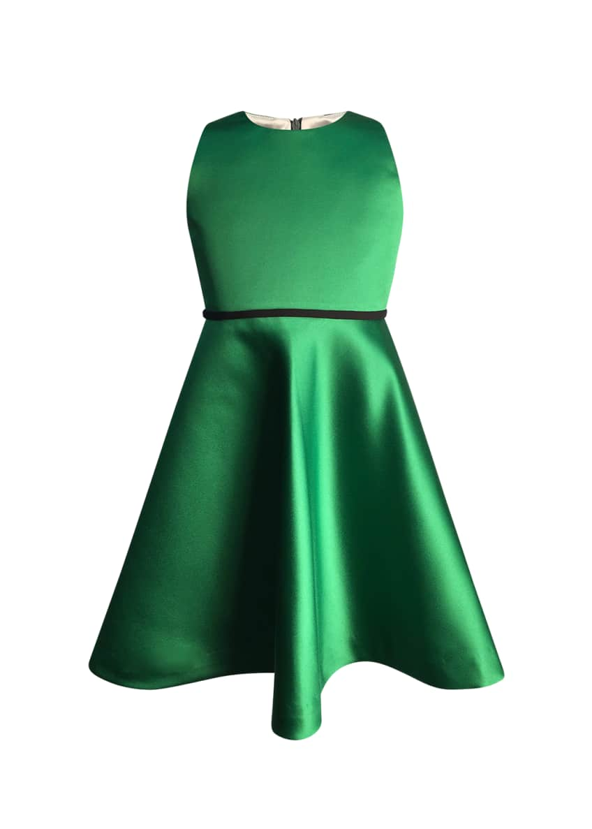 Image 1 of 1: Girl's Sleeveless Fit-and-Flare Dress, Size 7-14
