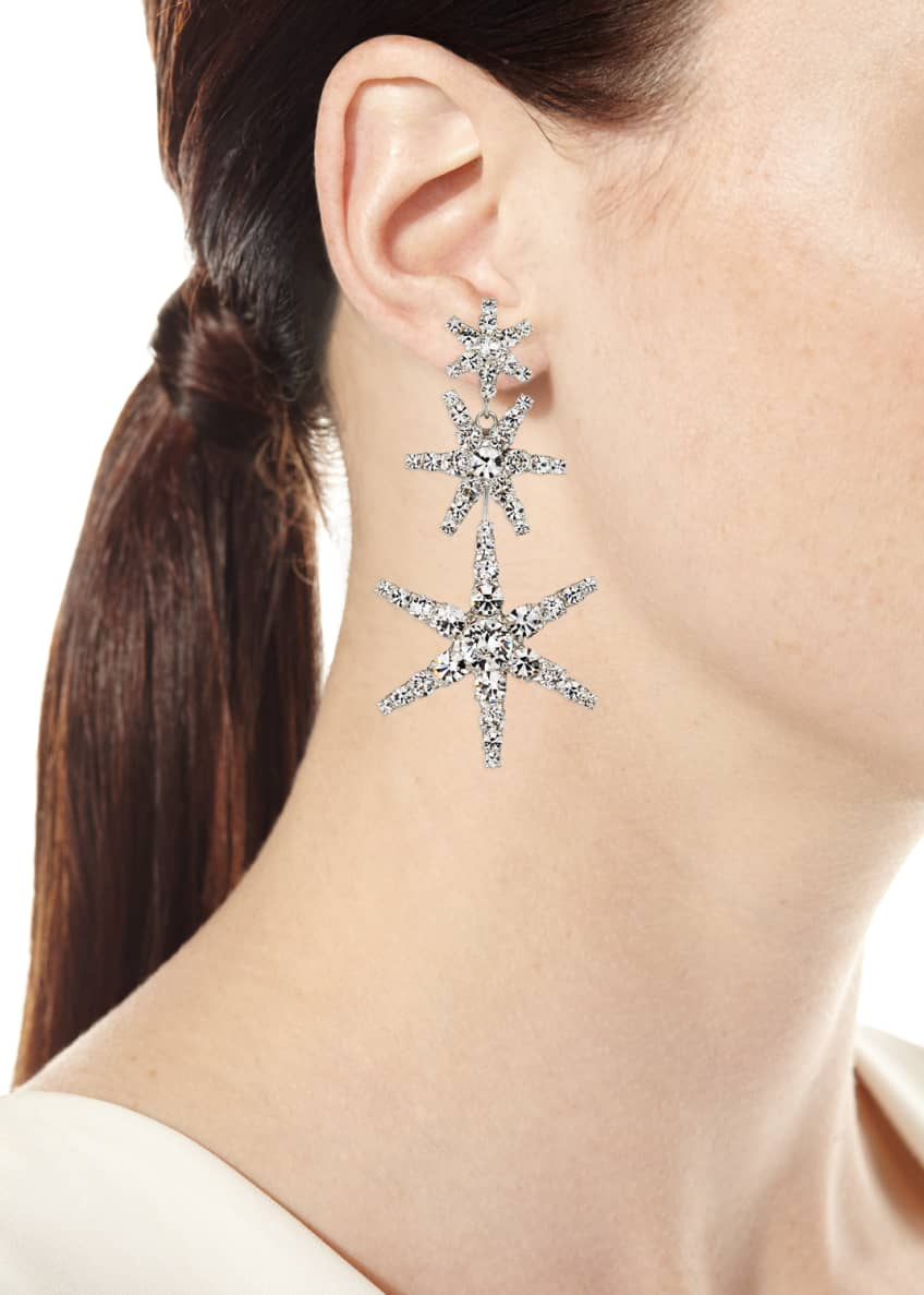 Image 2 of 2: Aurelia Crystal Star Earrings