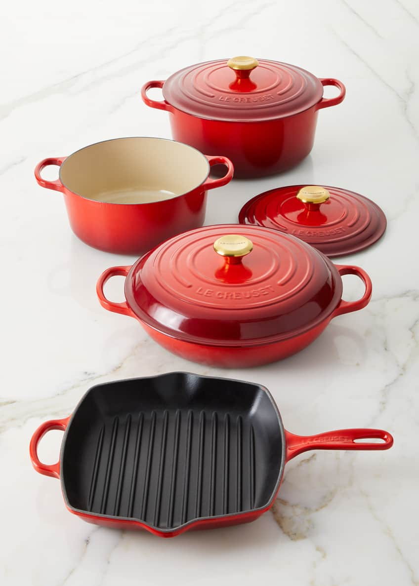 Le Creuset Exclusive 7-Piece Cerise Cookware Set