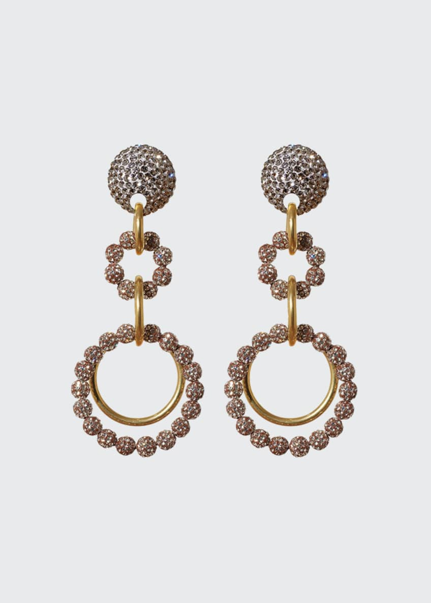 Lele Sadoughi Crystal Loop-de-Loop Earrings