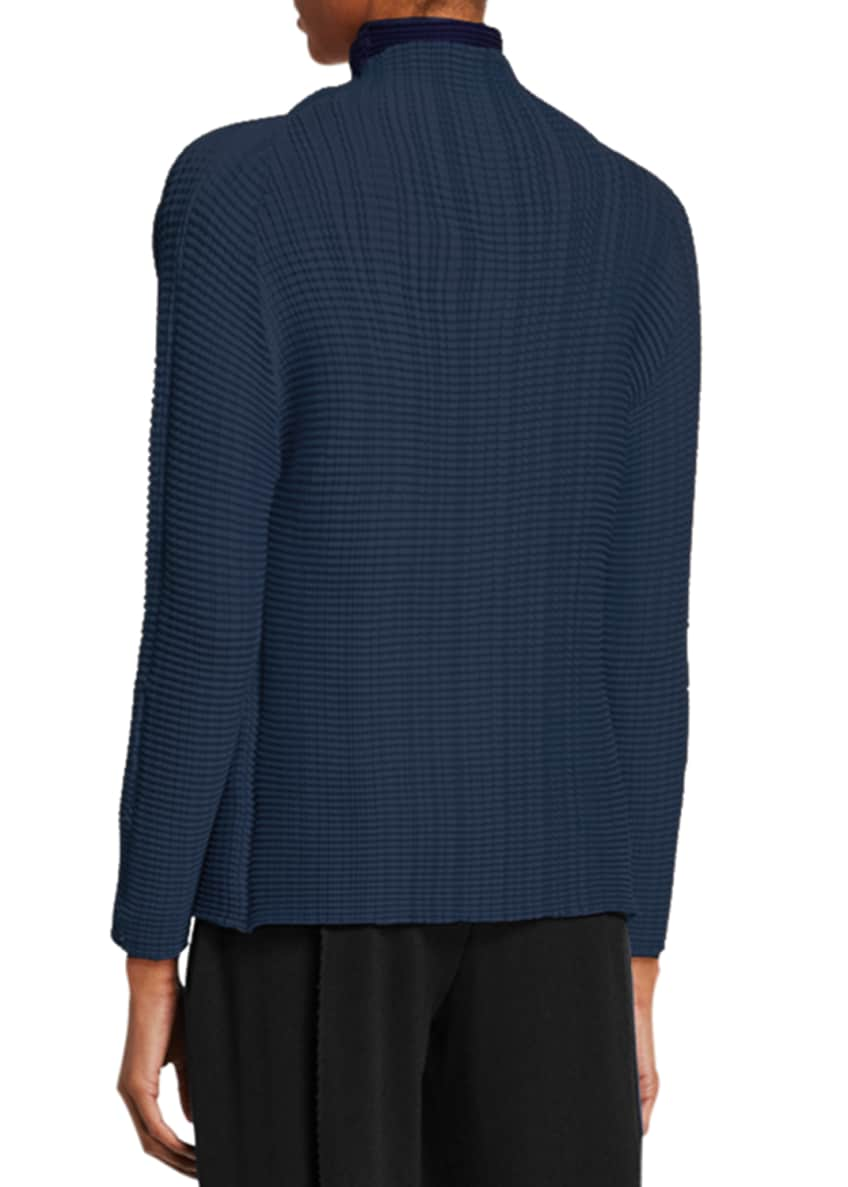 Image 2 of 4: Pleated Open Front Cardigan