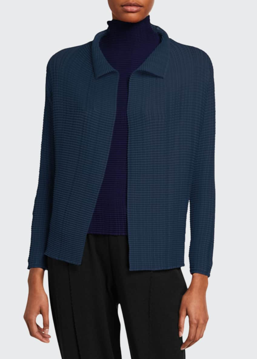 Issey Miyake Pleated Open Front Cardigan & Matching