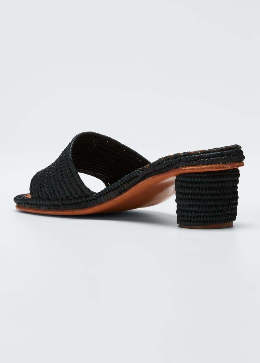 Image 2 of 4: Bou Woven Slide Sandals