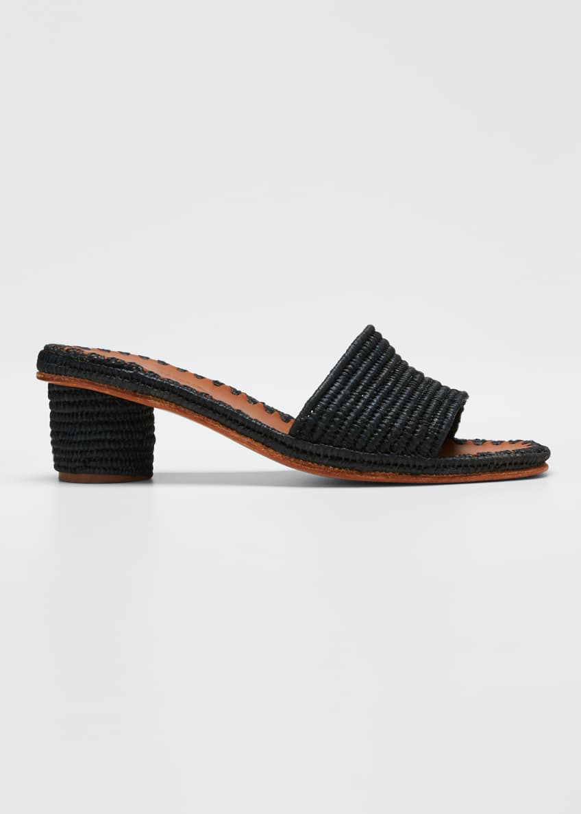 Image 1 of 4: Bou Woven Slide Sandals