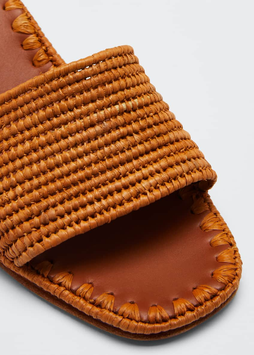 Image 3 of 4: Bou Woven Slide Sandals