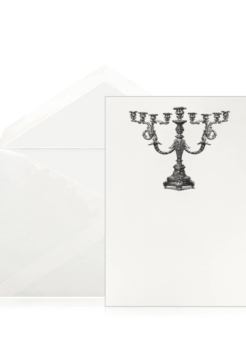 Bell'INVITO Baroque Menorah Stationery Set, Box of 10