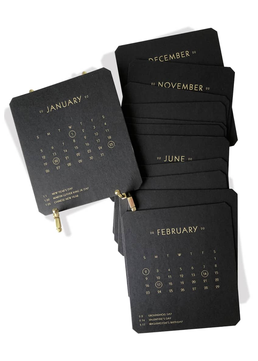 Bell'INVITO 2020 Calendar Noir Refill