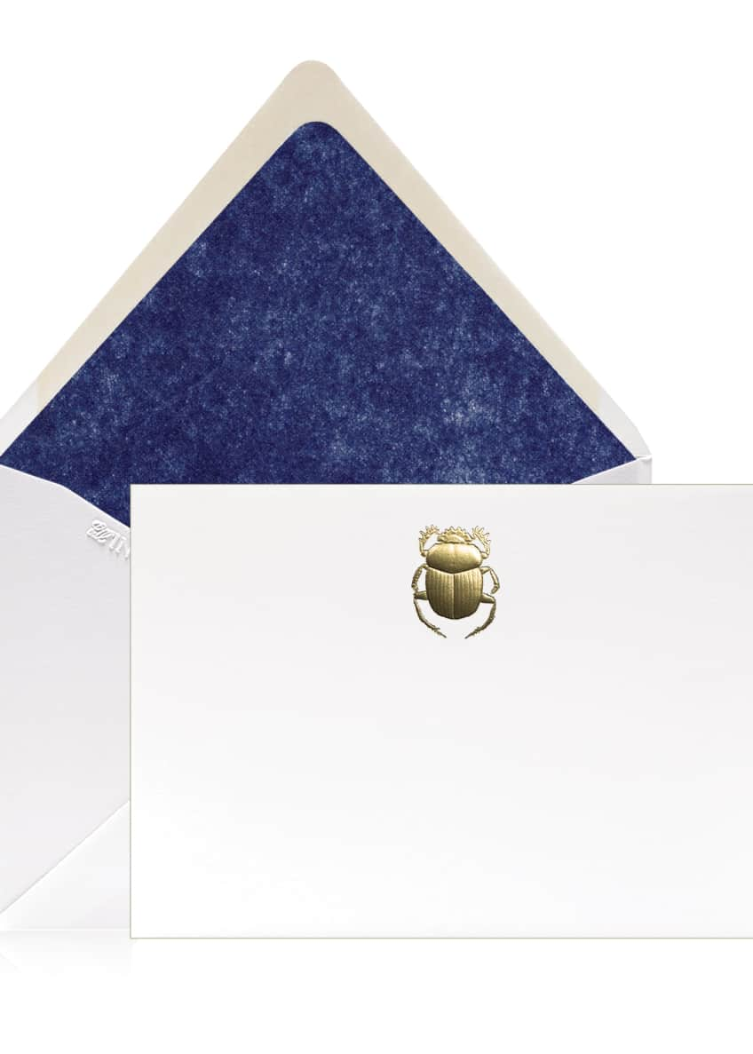 Image 1 of 1: Scarab Stationery Set, Box of 12