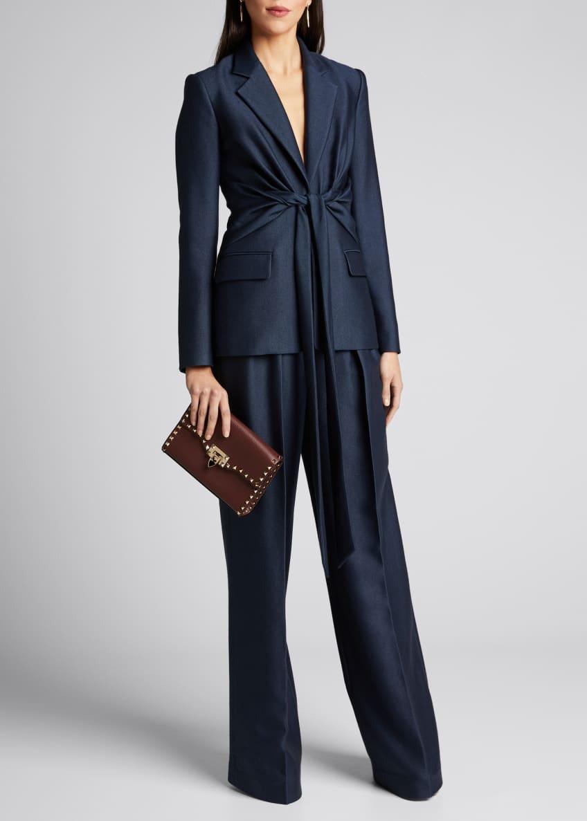 Gabriela Hearst Grant Knotted Wool-Silk Blazer & Matching