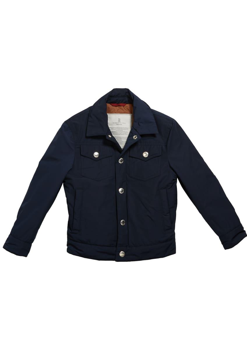 Brunello Cucinelli Boy's Safari Pocket Jacket, Size 12