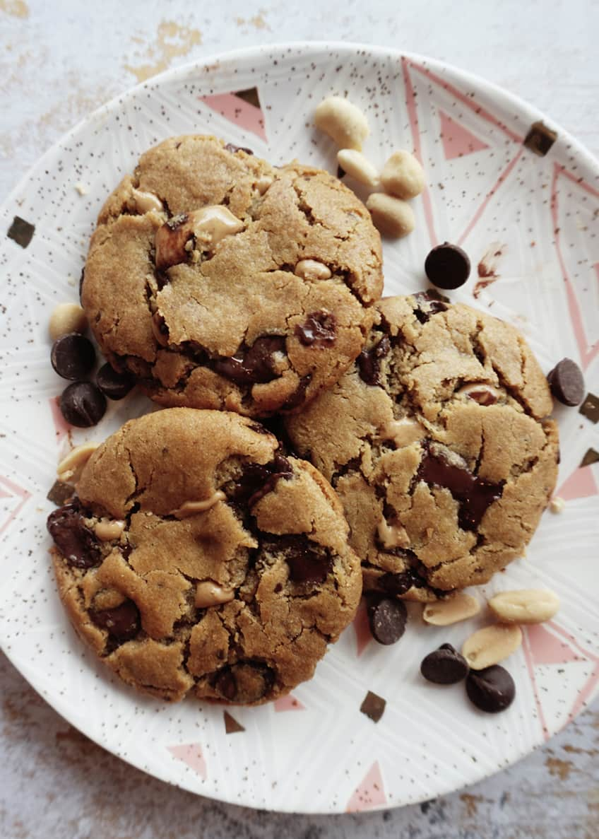 Image 4 of 4: Vegan Peanut Butter Chocolate Chip Cookies, 8-Pack