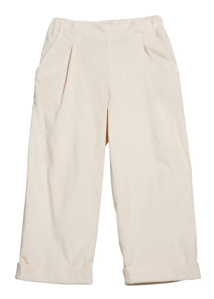 Brunello Cucinelli Girl's Corduroy Pants, Size 8-10